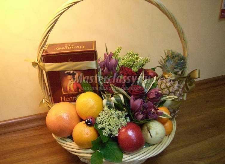 Как оформить фруктовую корзину своими руками