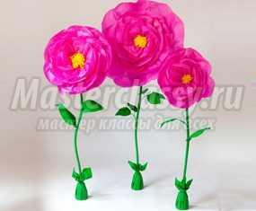 Ростовые цветы из бумаги своими руками фото 119