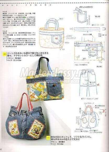 сумка из джинс