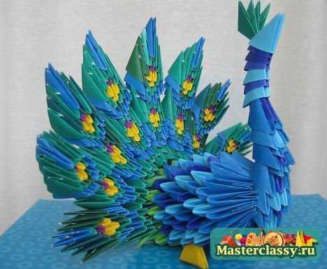 Как сделать павлина из бумаги модульное оригами фото 70