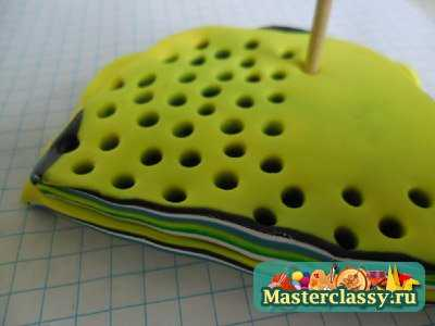 Изделия из полимерной глины в технике Мокуме Ганэ