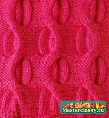Узоры-резинки для вязания спицами бесплатно 56