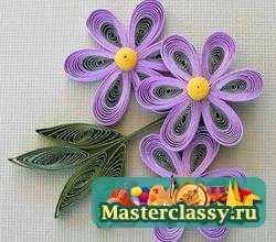 Квиллинг цветок схема