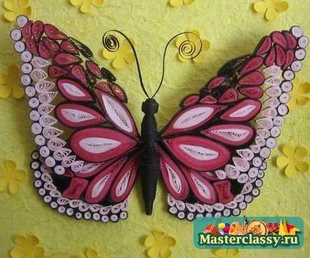 Бабочка. Квиллинг