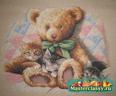 Мишка Тедди. Вышивка