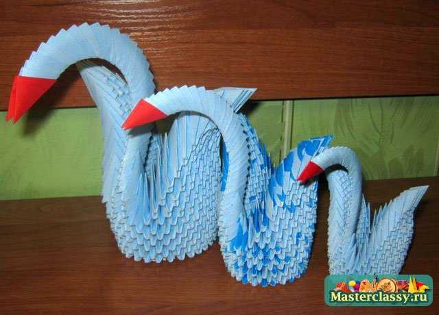 Модульное оригами лебедь