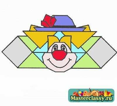 Оригами Клоун