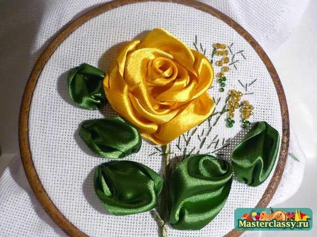 как сделать розу из лент
