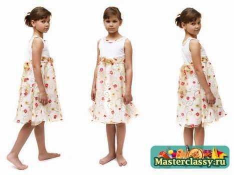 Детское платье своими руками на 10 лет