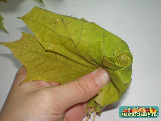 Поделки из кленовых листьев