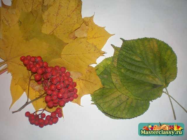 Поделки осенних из листьев