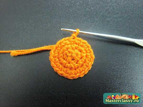 Вязание. Тыква на Хеллоуин