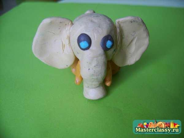 Слоненок. Поделки из пластилина
