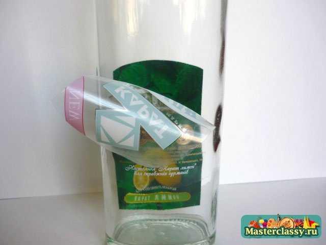 Декупаж бутылки к Новому Году