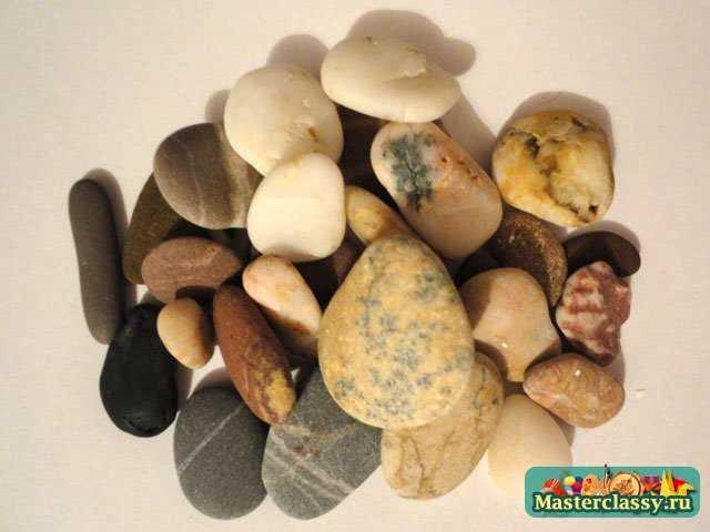 Поделки из камней и бумаги. Звери