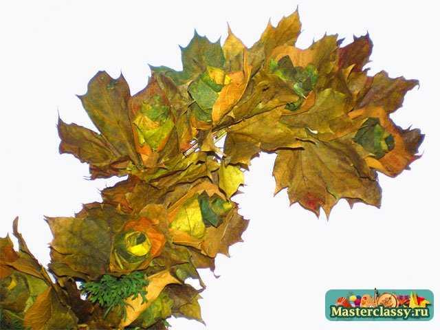 Поделки из листьев. Веточка мастер класс