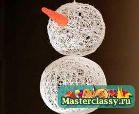 1321203972_1 Снеговик своими руками на Новый год из подручных материалов