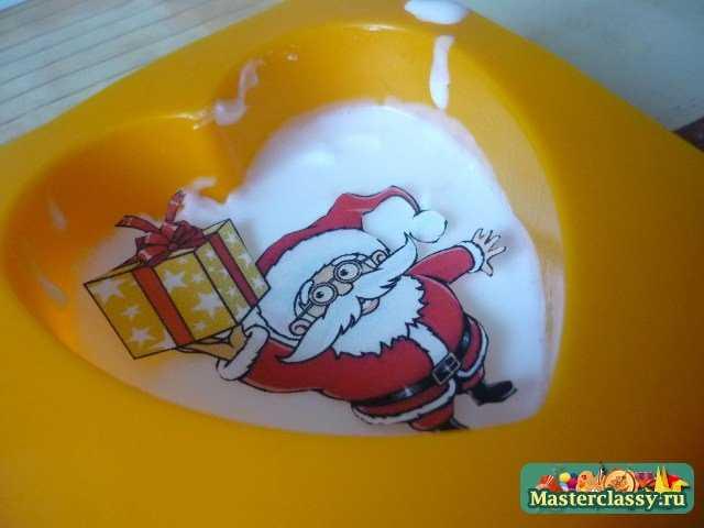 Новогоднее мыло ручной работы. Дед Мороз
