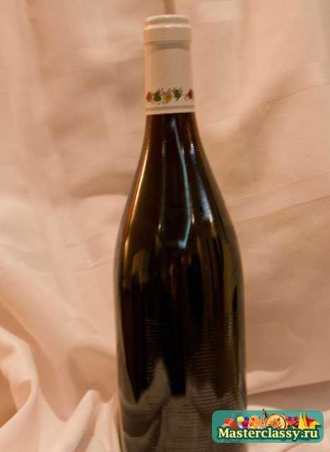 Новогодний декупаж бутылки. Дед мороз