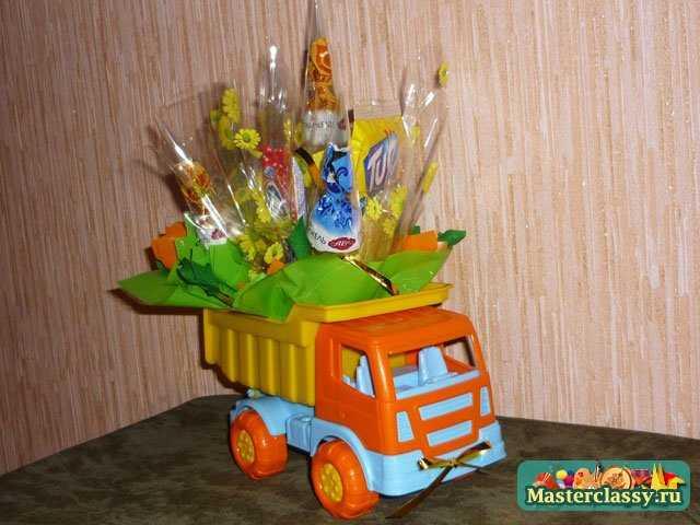 Машина с конфетками. Мастер класс