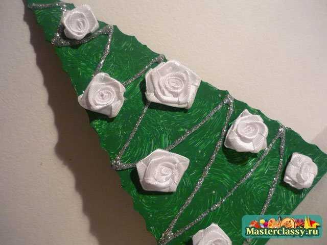 Ёлочка с розами. Мастер класс