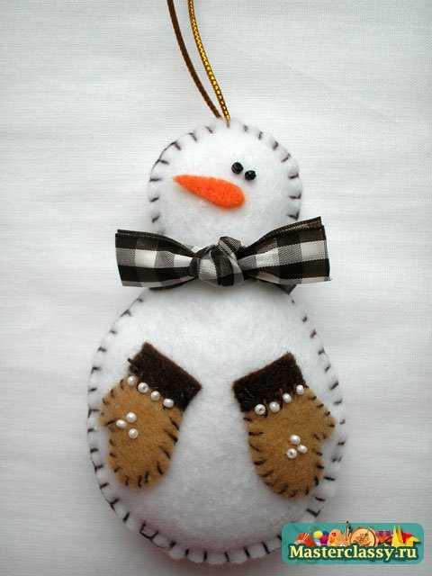 Снеговик игрушка на елку 4