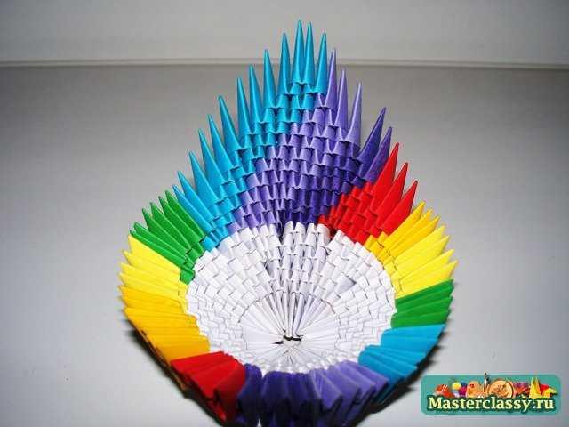 Модульное оригами конфетница схема сборки пошаговые фото 187