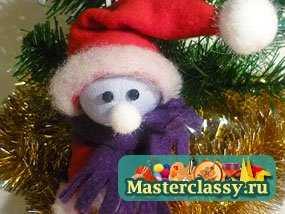 1323621855_1 Снеговик своими руками на Новый год из подручных материалов