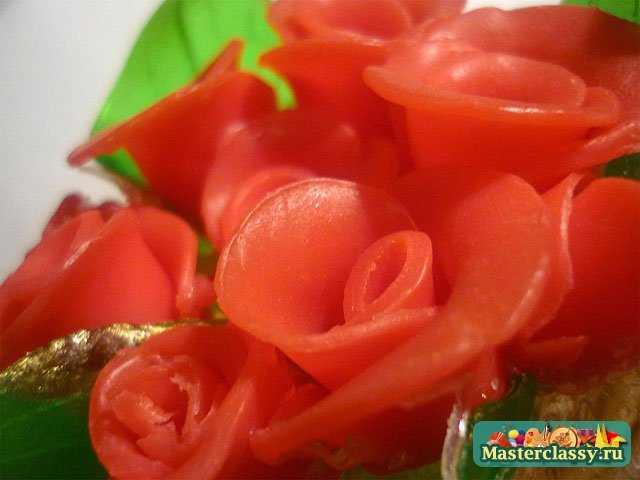 Мыло ручной работы Букет роз