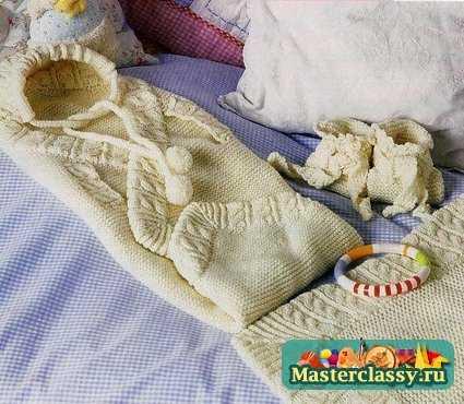 Вязание спицами с описанием для новорожденных