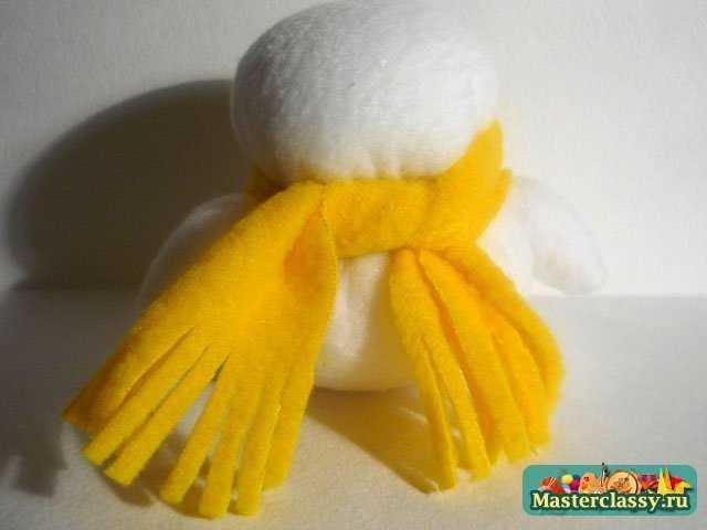 Ёлочные игрушки своими руками. Снеговик