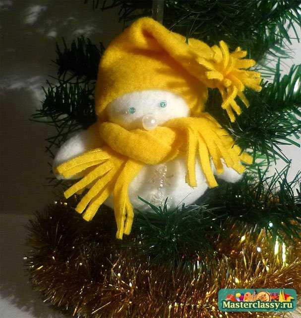снеговик елочные игрушки