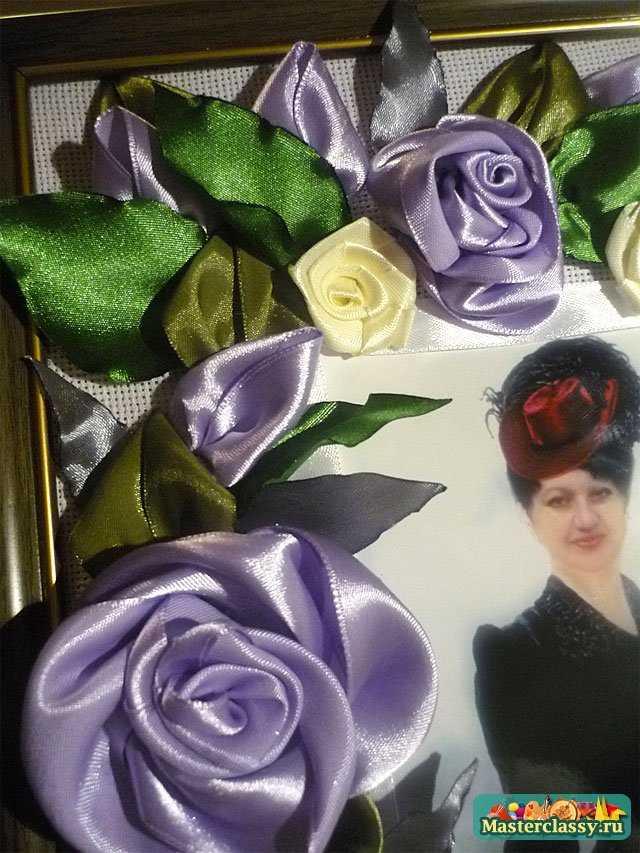 вышивка лентами роз мастер класс
