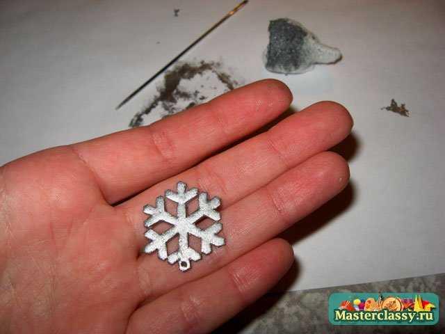 Сережки - снежинки своими руками