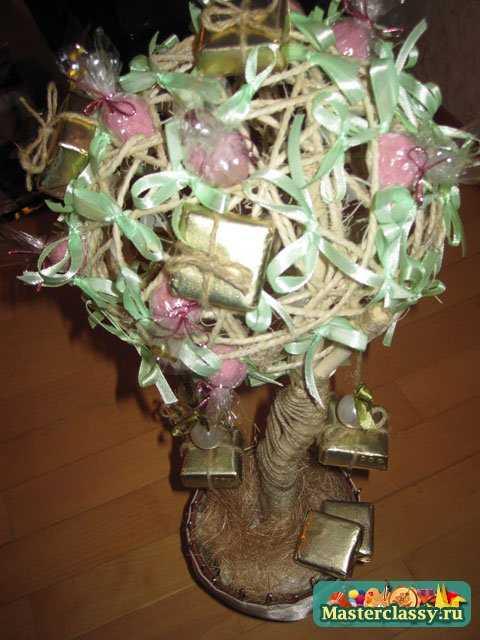 Поделки на День Рождение. Креативное дерево