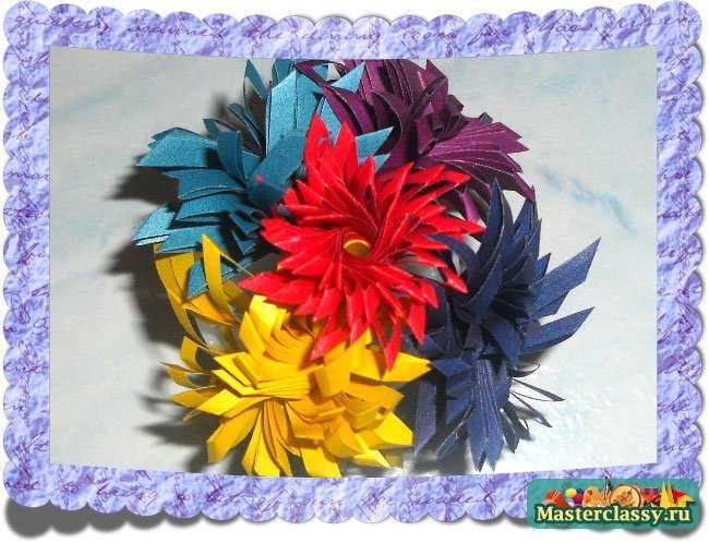 Цветы из бумаги. Букет к 8 марта