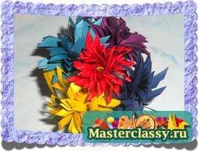 Цветы из бумаги. Букет к 8 марта. Мастер класс