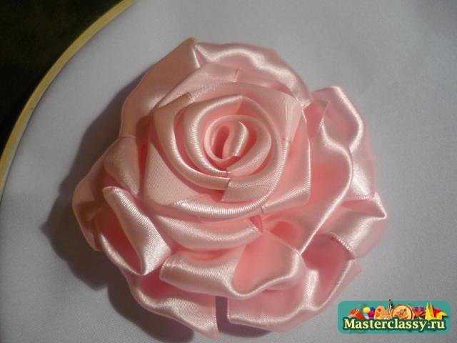 Ленточки вышивка роза