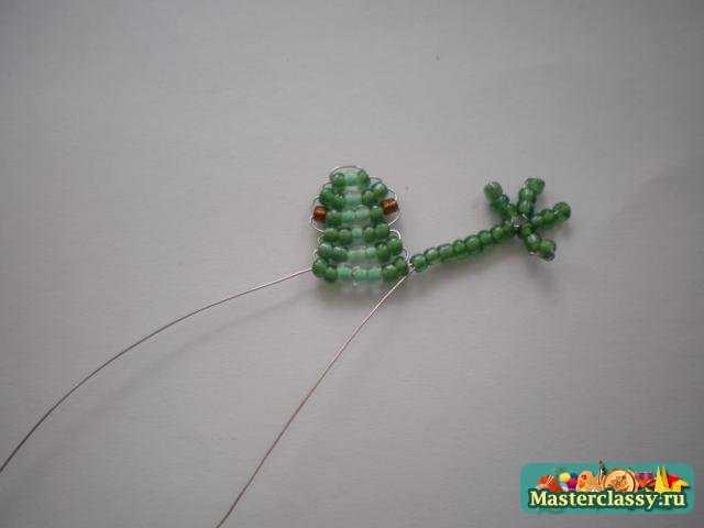 Лягушка из бисера. Мастер класс