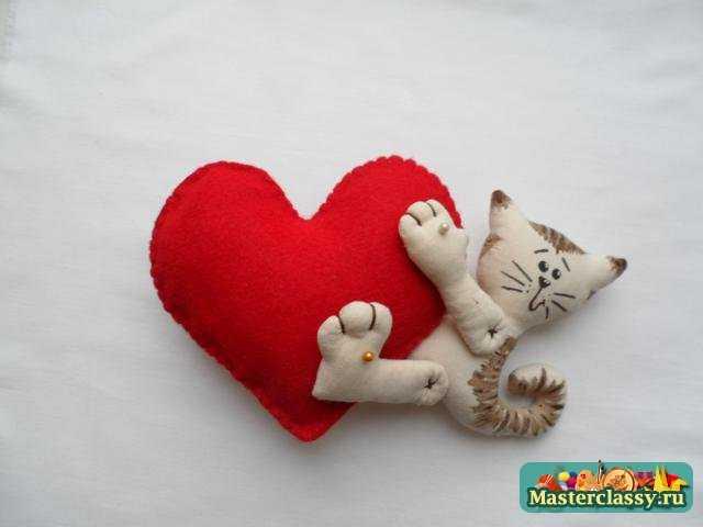 подарки на 14 февраля кот и сердце