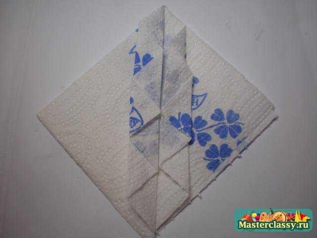 Оригами из салфеток. Жабо. Мастер класс
