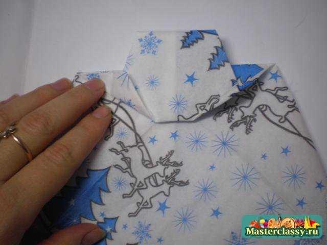Оригами из салфеток. Галстук