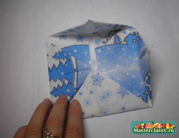 Оригами стола. Салфетка - кувшинка