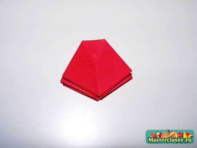 Изготовление мака оригами