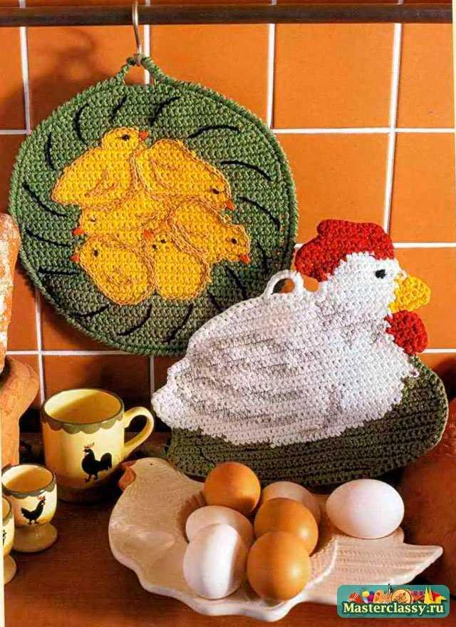 Пасхальная вязаная курица с цыплятами. Схема