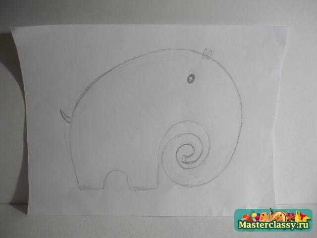 Игрушки для детей своими руками. Ромашковый слон