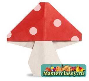 Как сделать гриб из бумаги своими руками оригами mushroom paper.