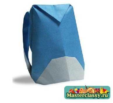 Как сделать рюкзак. Оригами схема