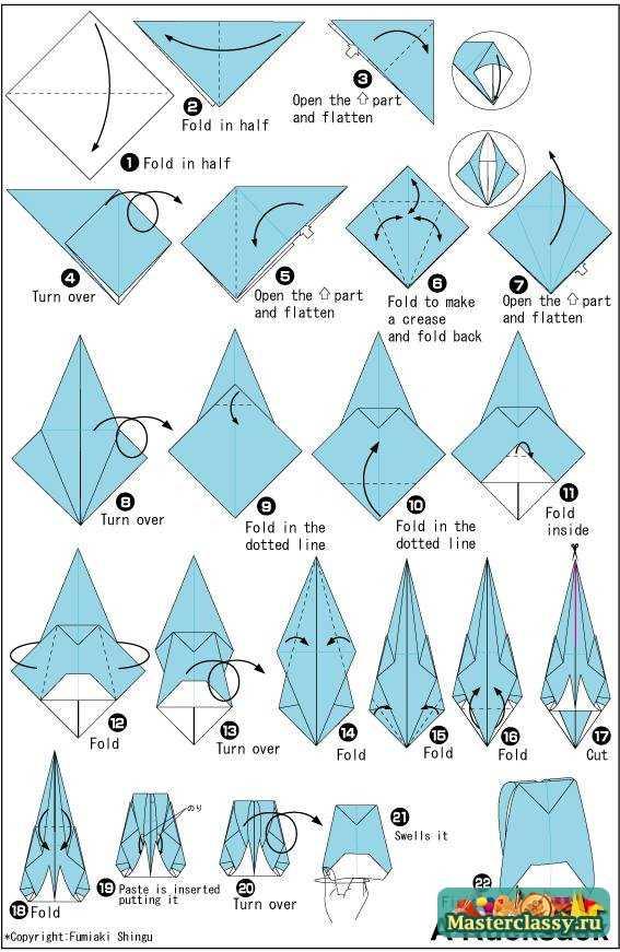 Сделать схемы оригами