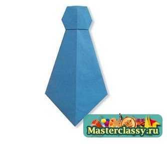Как сделать галстук из бумаги. Схема оригами